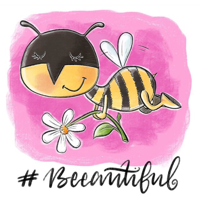 BetthupferlIllu betthupferl beeautiful bee beautiful pink lettering handlettering digitallettering digitalarthellip