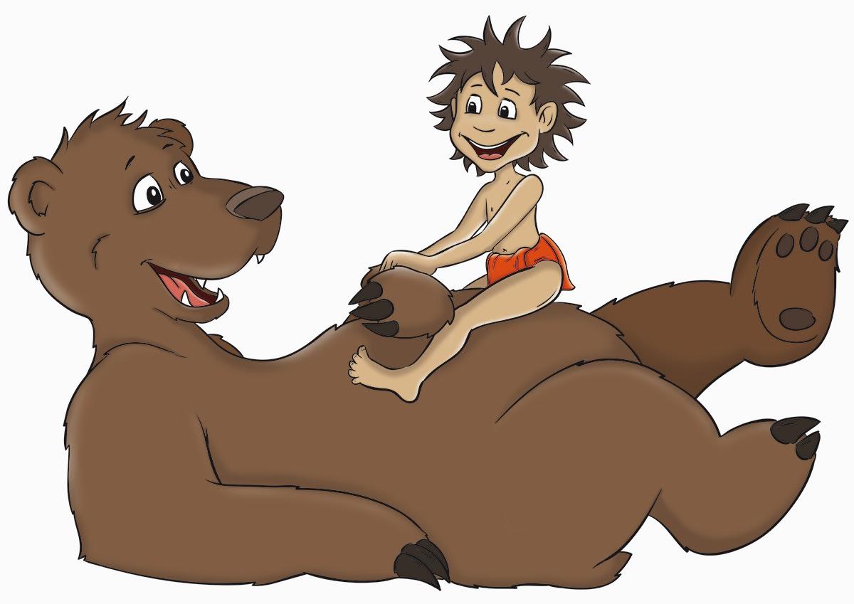 Baloo und Mowgli_Farbe1