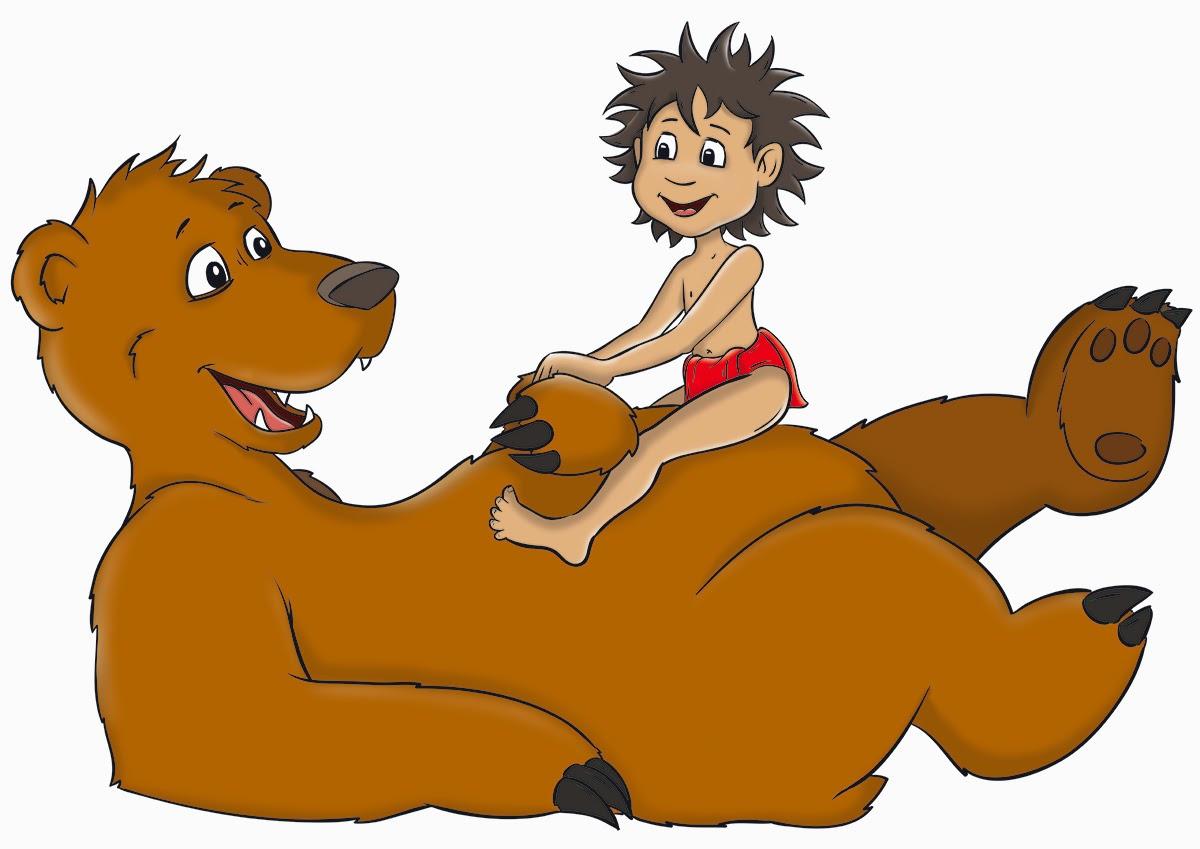 Baloo und Mowgli_Farbe2