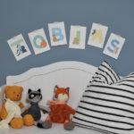 Postkarten Alphabet Buchstabenfreunde Tobias
