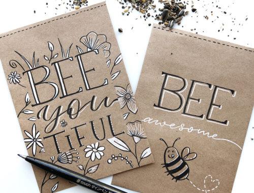 Bienenweide Samentütchen by luckymecaro
